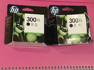 Three 3 Empty Hp 300 Xl Ink Cartrides Used No Ink 2 Black 1 Colour + Old Boxes