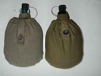 WW II Russian Army RKKA TWO  Glass flask water military canteen + rubber stopper