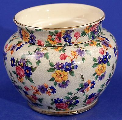 1930's Czechoslovakia ERPHILA Warwick Unusual 2-Piece Chintz Planter