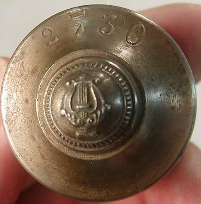 Antique Uniform Button Die Punch Army Musician #2730 Ww2 Ww1 Military