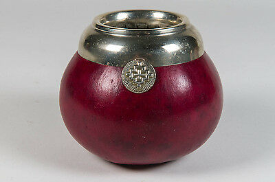 Vintage Argentinian gourd with silver trim