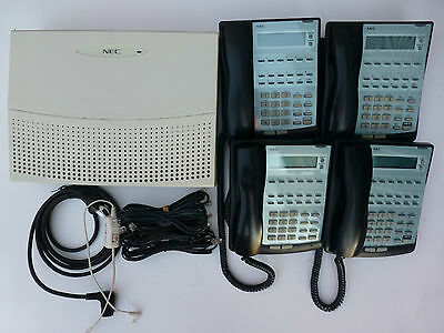 NEC Topaz Phone System IP2AT-924 w 4x LCD handsets  Tax invoice