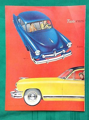 1951 Lot Vintage Automobile Magazine Ads ~ Henry J & Kaiser