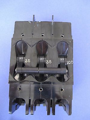 Airpax 219-3-2877-3, 3 Pole Circuit Breaker 35/35/100 - Used