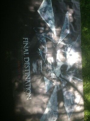 The Final Destinion Movie Banner Vinyl Approx 5X8 Death Saved The Best 3D