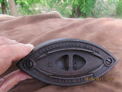 "Antique #2 Colebrookdale Sad Iron 6"" - Great Patina!"