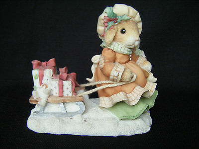 My Blushing Bunnies The Gift of Friendship Christmas 1996 Enesco #178640