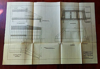 1910 Panama Canal Engineering Sketch Diagram Panama Colon Railroad Company