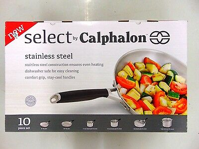 Select by Calphalon Stainless Steel 10 Piece Set 1961938 NEW!! Free Shipping!!