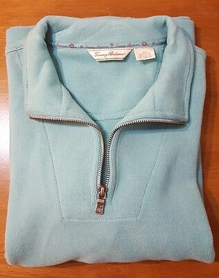 Tommy bahama kids youth turquoise half zip sweater size L 12/14