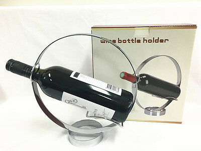 Creative Stainless Steel Wine Rack Wine Bottle Rack Holder Wine Serving Holder