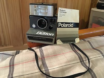 Vintage Polaroid The Button SX-70 Land Camera Instant Film - Tested & Working