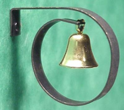 Dollhouse Miniature Howdy Bell by Clare-Bell Brass