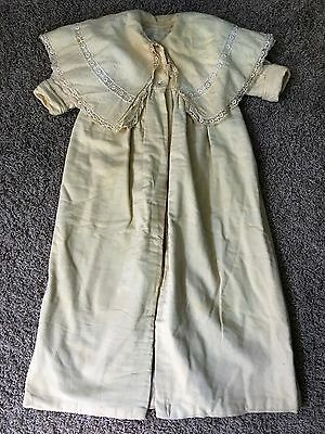 Antique Long Victorian Edwardian Wool Baby Coat Vintage