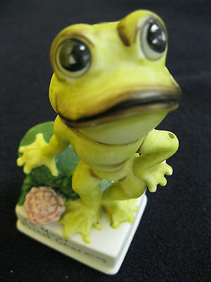 "Prince Charming Frog Figurine ""I'm Your Prince Charming"" Spotted Frog"