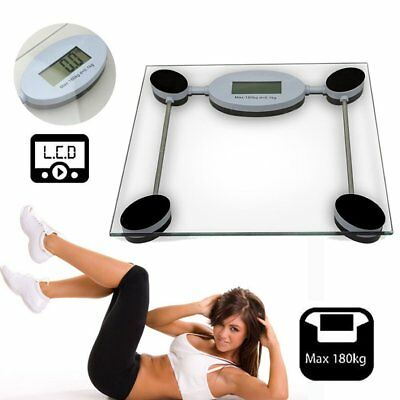 180 KG Digital Electronic Personal Scale Glass LCD Bathroom Weighing Body Scale
