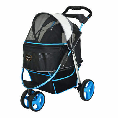 "Ibiyaya ""Monarch"" Premium Pet Jogger & Stroller - F1 Moto Blue - For Cats & Dogs"