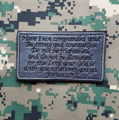 Joshua 1:9 Army Combat Infidel Usa Military Tactical Acu Dark Hook Morale Patch