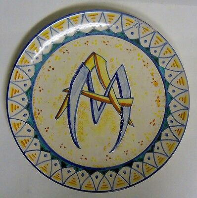 Caltagirone Italy Majolica Pottery Wall Plate 10""
