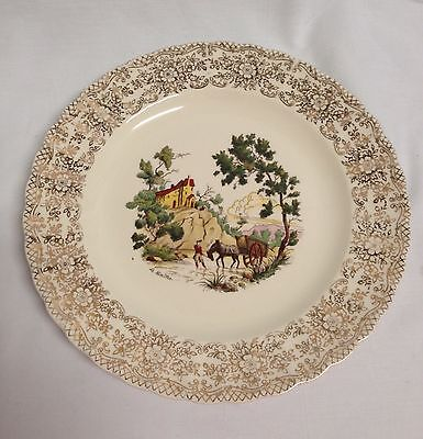 """America Limoges Chateau-France 22K Gold 9 3/4"""" Plate"""