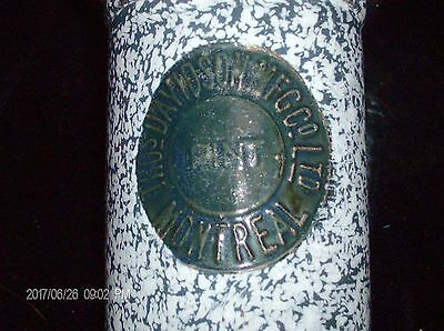 Antique graniteware pint measure Thos. Davidson  Mfg Co Ltd. Montreal circa 1898