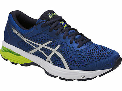 e9df28677789 NEW MENS ASICS GT-1000 6 Black Safety Yellow Running Shoes (2E ...