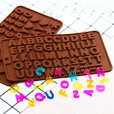 Alphabet Letter Number Silicone Fondant Chocolate Candy Cake Decorating Mould