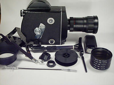 16mm movie cam Krasnogorsk-3 M42 Kit With lens.Box and leather case. s/n 9201221