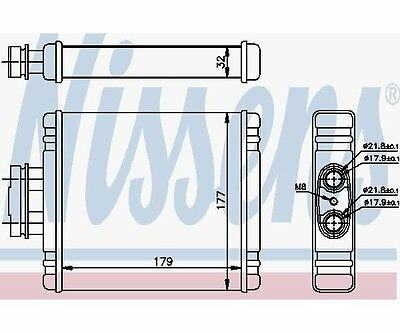 Nissens 73654 Heat Exchanger, Interior Heating