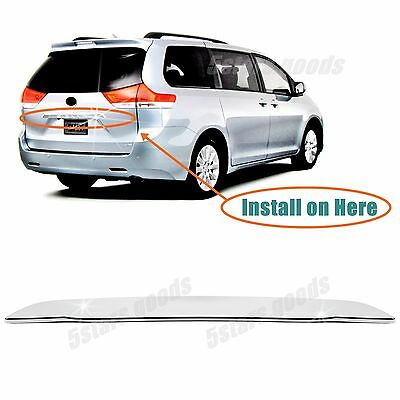 Chrome Rear Trunk Lift Handle Molding Cover Trim For 2011-2019 Toyota Sienna