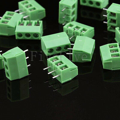 3 poles/3 Pin 3.96mm Straight PCB Universal Screw Terminal Block Connector Lot