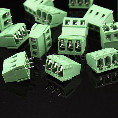 KF128-3 Pin 5.08mm/0.2'' straight PCB Universal Screw Terminal Block Connector