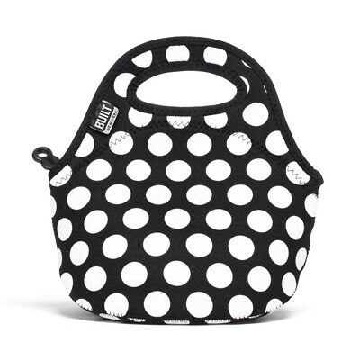 NEW Built NY Gourmet Getaway Big Dot Black Mini Snack Tote
