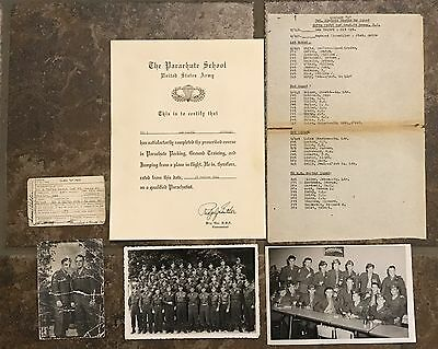 Ww2 517th Airborne Paratrooper Jump Certificate Named Grouping