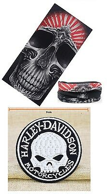 New Design #2 Harley Style Face Mask Motorcycle & Harley Willie G. Patch Biker