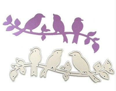 Unbranded quality metal cutting die BIRDS ON BRANCH ww Cuttlebug / Sizzix