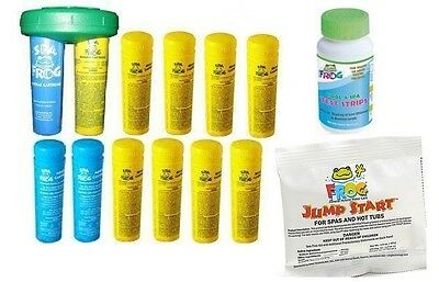 3-4 DAY SHIP Spa Frog Kit 12 pack-9 Bromine & 3 Mineral Test Strips Jump Start