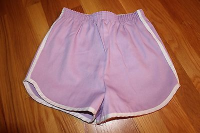 New Old Stock 1970s Girls' Lilac Lavender Purple Shorts with White Stripe