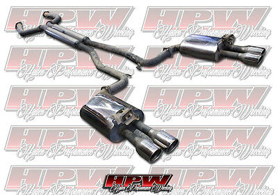 """Walkinshaw twin 2 1/2"""" Stainless Steel exhaust system cat back for VE VF V8"""