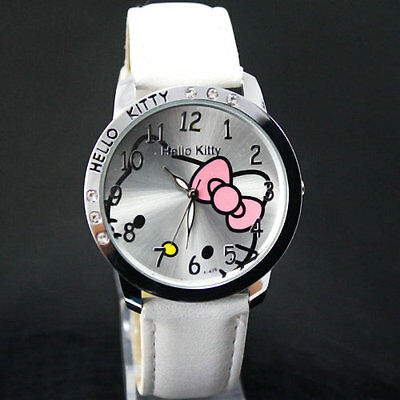 Birthday gift Hello Kitty Picture Chassis watch - White,black,pink