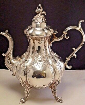 Vintage Reed Barton Winthrop Tea Pot Coffee Pot Hand Chased Embossed Aesthetic
