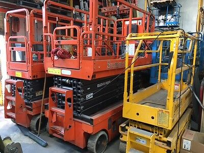 Scissor lifts  15',19, 20, 26, 26' Slim, 32'