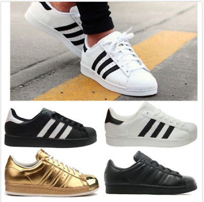 Mens Running Trainers Fashion Casual Lace Walking Sports Shoes Superstar Size