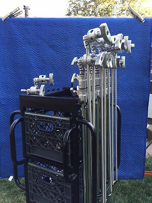 Backstage cart with 8 Matthews C-Stands