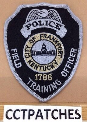 Frankfort, Kentucky Police Field Training Officer Shoulder Patch Ky