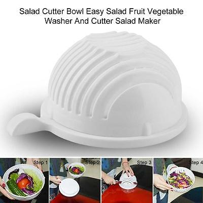 60 Second Salad Maker Cutter Bowl Healthy Fresh Salads Made Easy Tool Slicer3 WS