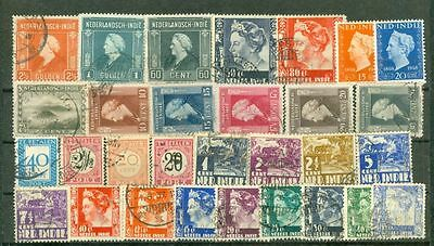 Netherlands Colony Indinesia NED-INDIE 100 used stamp Lot#4312
