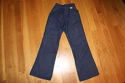 New Old Stock 1970s Girls' Boys' Super Denim Blue Jeans Pants from JCPenney