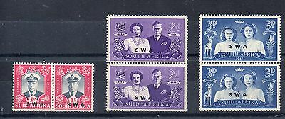 SOUTH WEST AFRICA 1947  SG 134 to 137 m/m