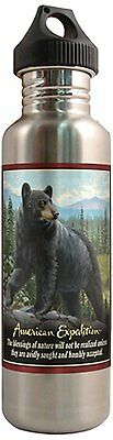 American Expedition Steel Water Bottle Black Bear